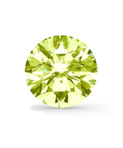 Grøn/gul diamant brilliant round cut
