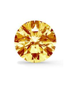Orange/gul diamant brilliant round cut