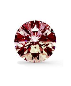 Rød diamant brilliant round cut